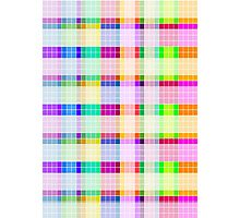 Bathroom Tile Rainbow Photographic Print