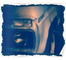 Vintage Truck -- Cyanotype Poster