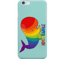 Homosexuwhale - with text iPhone Case/Skin