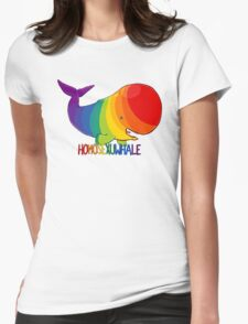 Homosexuwhale - with text Womens Fitted T-Shirt