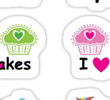 Stickers 3 cupcakes - cupcake love Sticker