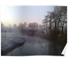 cold winter morning Poster
