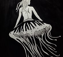 Jellyfish Girl 2 by lazyvangogh