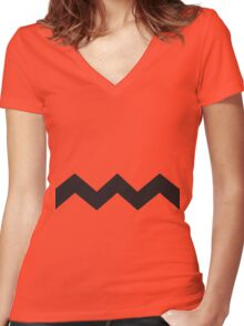 Charlie brown  Women's Fitted V-Neck T-Shirt