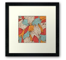 Romantic leaves Framed Print