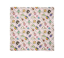 Neapolitan Gingham Frosty Treats Scarf
