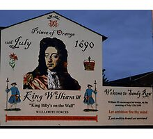 """ King Billy's on the Wall"" Photographic Print"