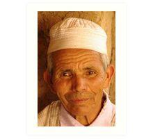 Berber Hill farmer - Ourikah Valley, Morocco Art Print