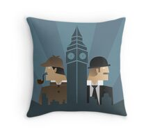 Sherlock Holmes Art Deco Throw Pillow