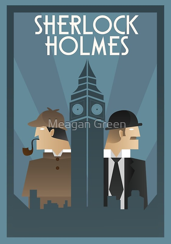 """Sherlock Holmes Art Deco"" Posters by whitebalanced ..."