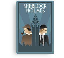 Sherlock Holmes Art Deco Canvas Print