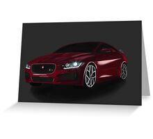 Jaguar XE Greeting Card