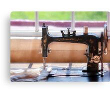 Sewing Machine - A stitch in time Canvas Print
