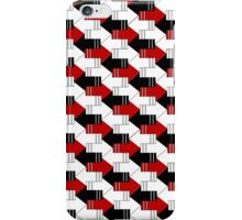 Arrows White Black and Red iPhone Case/Skin