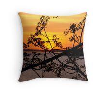 Northern Ontario Sunset Throw Pillow