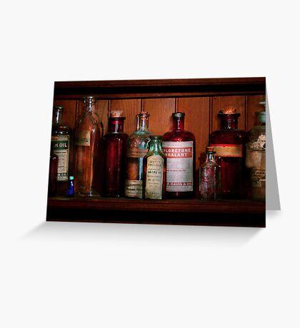 Pharmacy -  Oils and Inhalants Greeting Card