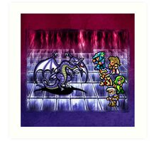 FF4 Bahamut Battle Art Print