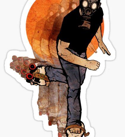 Skull Skates Sticker