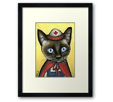 Nurse cat Framed Print