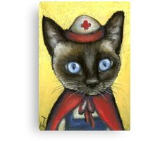 Nurse cat Canvas Print
