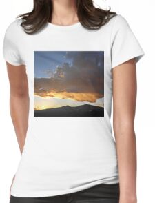 ©HCS Orange Glow In Front Sunset IA. Womens Fitted T-Shirt