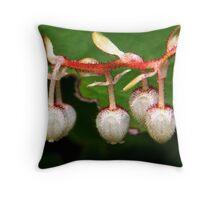 salal blossoms Throw Pillow
