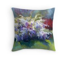 Wisteria Garden from Original Pastel painting by Madeleine Kelly Throw Pillow