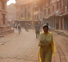 Nepali Color - Bahktapur Woman by lgusem