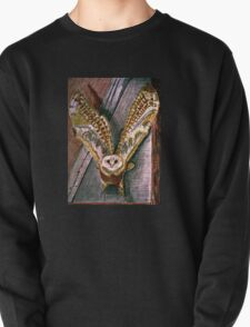 Ghost Owl  in flight colored pencils drawing T-Shirt