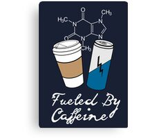 Fueled By Caffeine (White)  Canvas Print