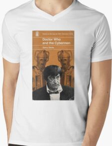Doctor Who and the Cybermen - Penguin style Mens V-Neck T-Shirt