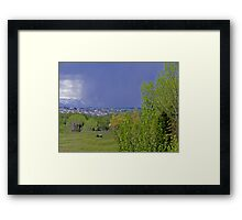 Watching The Storm Arrive Framed Print