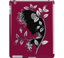 nymph among the roses ink drawing iPad Case/Skin