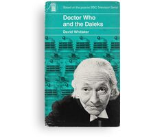 Doctor Who and the Daleks - Penguin style Canvas Print