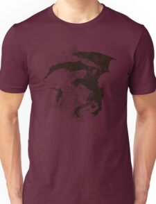 Dragonfight-cooltexture B&W Unisex T-Shirt