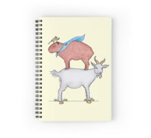 The case of caprylic chaos and the capybara Spiral Notebook