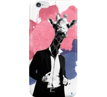 Giraffe splash iPhone Case/Skin