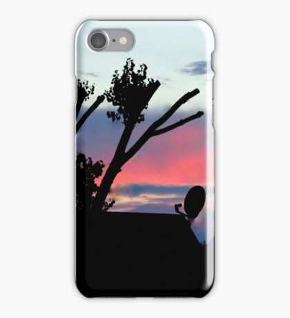 Trimmed Cotton Wood, Dish, And Sunset iPhone Case/Skin