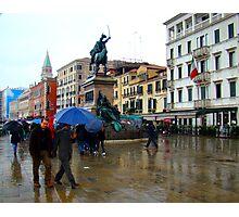 The Rain In Venice Photographic Print