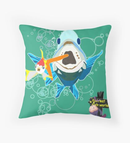 It's a Fish Eat Fish World Throw Pillow