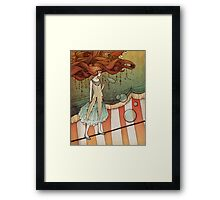 The tight-rope walker Framed Print