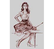 PIN UP ARTIST Photographic Print