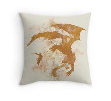 Dragonfight-cooltexture Throw Pillow