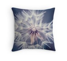 Dandelion Blue Throw Pillow