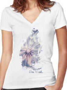 Dandelion Blue Women's Fitted V-Neck T-Shirt