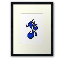 Michael / مايكل (blue) Framed Print