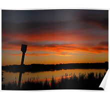 Pink Clouds Over Purgatory Creek Poster