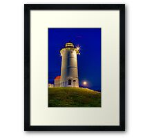 Moonrise, Nobska Light Framed Print