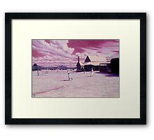 Outback Tennis Framed Print