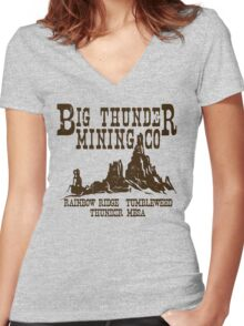 Big Thunder Mining Co Women's Fitted V-Neck T-Shirt